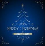 Cartolina di Natale di vettore Immagini Stock
