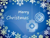 Cartolina di Natale di vettore con i fiocchi di neve Fotografia Stock Libera da Diritti