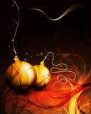 Cartolina di Natale di vettore | Decorazioni floreali illustrazione vettoriale