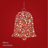 Cartolina di Natale di vettore. Fondo quadrato di Natale moderno nel fre Immagini Stock