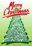 Cartolina di Natale disegnata a mano Fotografie Stock Libere da Diritti