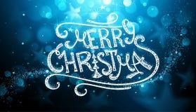 Cartolina di Natale disegnata a mano Fotografia Stock Libera da Diritti