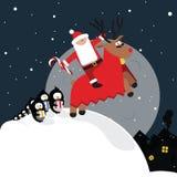 Cartolina di Natale divertente Fotografia Stock