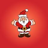 Cartolina di Natale e fondo con il Babbo Natale Immagine Stock Libera da Diritti