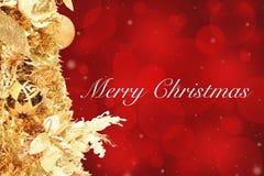 Cartolina di Natale e nuovo anno Fotografia Stock Libera da Diritti