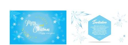 Cartolina di Natale ed invito semplici Fotografia Stock Libera da Diritti