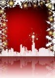 Cartolina di Natale elegante Fotografia Stock