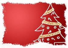 Cartolina di Natale elegante Immagini Stock