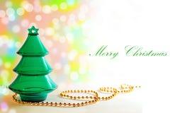 Cartolina di Natale elegante della priorità bassa di natale Fotografia Stock