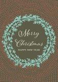 Cartolina di Natale fatta a mano Fotografie Stock Libere da Diritti
