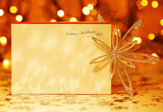 Cartolina di Natale felice Fotografia Stock