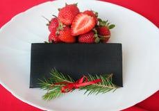 Cartolina di Natale, festa Di natale vita ancora Regolazione della Tabella per il natale Spazio libero per testo Composizione cre fotografia stock