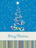 Cartolina di Natale gioiosa Immagini Stock Libere da Diritti