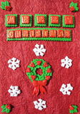 Cartolina di Natale Handmade Immagine Stock