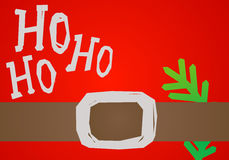 Cartolina di Natale HO HO HO Fotografia Stock