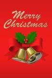 Cartolina di Natale, illustrazione 3D Immagine Stock