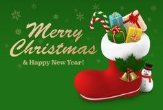 Cartolina di Natale, illustrazione 3D Immagini Stock