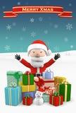 Cartolina di Natale, illustrazione 3D Immagine Stock Libera da Diritti