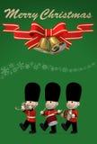 Cartolina di Natale, illustrazione 3D Fotografia Stock