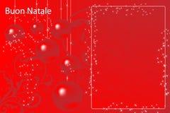 Cartolina di Natale italiana illustrazione di stock