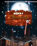 Cartolina di Natale leggiadramente luminosa Fotografia Stock Libera da Diritti