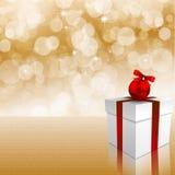 Cartolina di Natale magica. Fotografia Stock