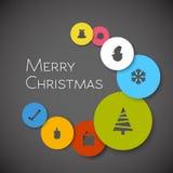 Cartolina di Natale minimalistic moderna semplice di vettore Fotografie Stock Libere da Diritti