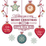Cartolina di Natale Natale che accoglie Fotografia Stock Libera da Diritti
