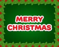 Cartolina di Natale o priorità bassa Fotografie Stock Libere da Diritti