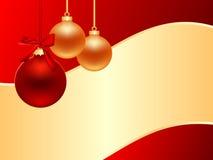 Cartolina di Natale orizzontale Immagini Stock Libere da Diritti