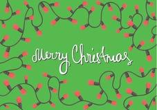Cartolina di Natale orizzontale del modello Immagini Stock