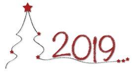 Cartolina di Natale per congratularsi il nuovo anno illustrazione vettoriale