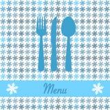 Cartolina di Natale per il menu del ristorante Fotografia Stock