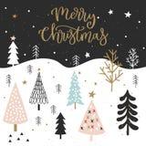 Cartolina di Natale per l'invito, aletta di filatoio, pianificatore, autoadesivo, scrapbooking, stampa, manifesti fotografia stock libera da diritti