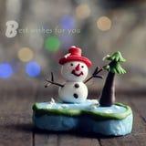 Cartolina di Natale per la vacanza invernale Fotografia Stock