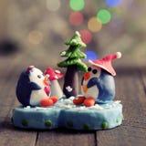 Cartolina di Natale per la vacanza invernale Fotografia Stock Libera da Diritti