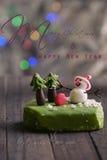 Cartolina di Natale per la vacanza invernale Immagine Stock