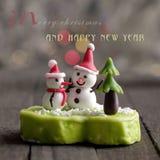 Cartolina di Natale per la vacanza invernale Immagini Stock Libere da Diritti