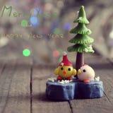 Cartolina di Natale per la vacanza invernale Fotografie Stock