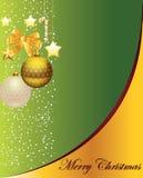 Cartolina di Natale piacevole Fotografia Stock