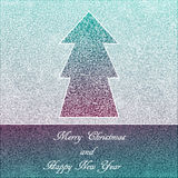 Cartolina di Natale, pizzo elegante su un fondo blu Fotografia Stock Libera da Diritti