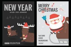 Cartolina di Natale - progettazione piana del fondo Fotografia Stock Libera da Diritti