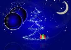 Cartolina di Natale, regalo Immagini Stock