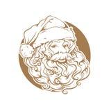 Cartolina di Natale, ritratto di Santa Claus con una barba fotografia stock libera da diritti