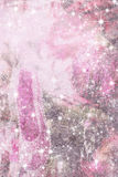 Cartolina di Natale rosa elegante con la scarpa frizzante Immagini Stock