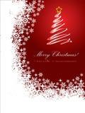 Cartolina di Natale rossa 2 Immagine Stock Libera da Diritti