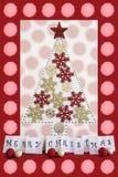 Cartolina di Natale rossa Fotografia Stock