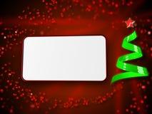 Cartolina di Natale rossa Fotografia Stock Libera da Diritti
