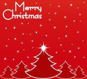Cartolina di Natale rossa Immagini Stock