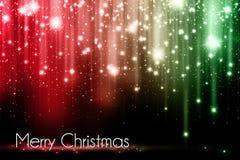 Cartolina di Natale rossa e verde Immagine Stock